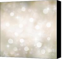 Background Gold Canvas Prints - Festive bokeh background Canvas Print by Nikolina Petolas