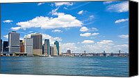New York Skyline Canvas Prints - New York City Skyline Canvas Print by Louis Scotti