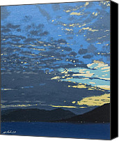 Malcolm Warrilow Canvas Prints - After sunset Canvas Print by Malcolm Warrilow
