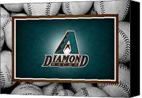 Baseball Canvas Prints - Arizona Diamondbacks Canvas Print by Joe Hamilton