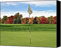 Sleepy Hollow Canvas Prints - Autumn Golf Canvas Print by Robert Harmon