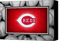 Baseball Canvas Prints - Cincinnati Reds Canvas Print by Joe Hamilton