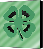 Kate Farrant Canvas Prints - 4 Leaf Clover  Canvas Print by Kate Farrant