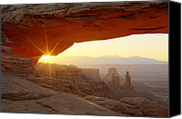 Mesa Arch Canvas Prints - Mesa Arch Canvas Print by Tom Cuccio