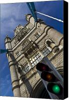 City Of Bridges Photo Canvas Prints - Tower Bridge London Canvas Print by David Pyatt
