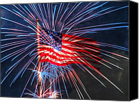 American Flag Special Promotions - 4th Of July Canvas Print by Heidi Smith