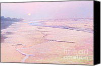 Morning Special Promotions - Beach Sunrise Canvas Print by Lynn Whitt