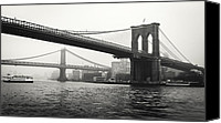 Urban Photo Special Promotions - Brooklyn Bridge Canvas Print by Alexander Mendoza