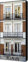 Old Houses Canvas Prints - Madrid Canvas Print by Frank Tschakert