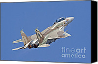 Featured Canvas Prints - An F-15i Raam Of The Israeli Air Force Canvas Print by Ofer Zidon