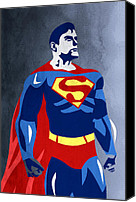 Caricature Canvas Prints - Superman  Canvas Print by Mark Ashkenazi