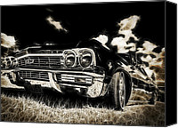 Custom Automobile Canvas Prints - 65 Chev Impala Canvas Print by motography aka Phil Clark