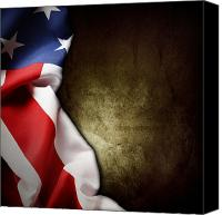 Flag Canvas Prints - American flag Canvas Print by Les Cunliffe