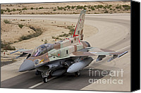 Featured Canvas Prints - An F-16i Sufa Of The Israeli Air Force Canvas Print by Ofer Zidon