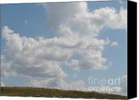 Featured Pyrography Canvas Prints - Clouds Canvas Print by Frank Conrad