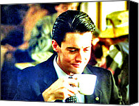 Twin Peaks Canvas Prints - A Damn Fine Cup Of Coffee Canvas Print by Ludzska