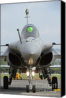 Featured Canvas Prints - A Dassault Rafale Fighter Aircraft Canvas Print by Remo Guidi
