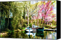 Boats Canvas Prints - A Day at the Lake Canvas Print by Bill Cannon