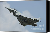 Featured Canvas Prints - A Eurofighter Typhoon Of The Royal Air Canvas Print by Remo Guidi