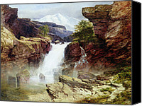 Featured Canvas Prints - A Rocky Torrent Canvas Print by William West