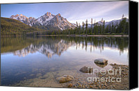 National Photo Special Promotions - A Sawtooth Evening Canvas Print by Idaho Scenic Images Linda Lantzy