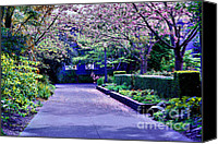 Cheryl Young Canvas Prints - A Walk in the Garden Canvas Print by Cheryl Young