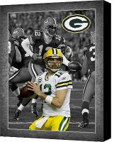 Ball Canvas Prints - Aaron Rodgers Packers Canvas Print by Joe Hamilton