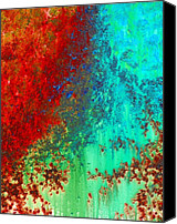 Large Painting Canvas Prints - Abstract 4 Canvas Print by Sharon Cummings