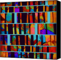 Mixed Media Digital Collage Canvas Prints - abstract - art- Color Pop  Canvas Print by Ann Powell
