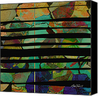Ann Powell Canvas Prints - abstract - art- Stripes Two Canvas Print by Ann Powell