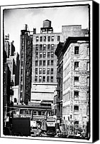 John Rizzuto Canvas Prints - Across Canal St 1990s Canvas Print by John Rizzuto