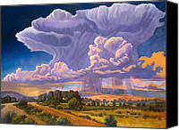 Pouring Painting Canvas Prints - Afternoon Thunder Canvas Print by Art West