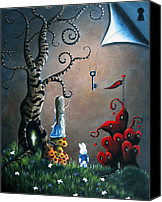 Secrets Canvas Prints - Alice In Wonderland Art by Shawna Erback Canvas Print by Shawna Erback