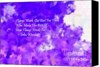 Holley Jacobs Canvas Prints - All The Good Things Purple Canvas Print by Holley Jacobs