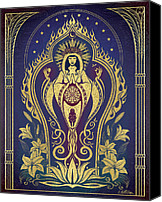 Flames Canvas Prints - Altar 2 Sacred Mother Canvas Print by Cristina McAllister