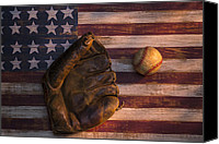 Baseball Canvas Prints - American baseball Canvas Print by Garry Gay