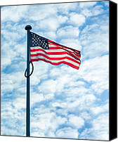 Collaboration Canvas Prints - American Flag Canvas Print by Semmick Photo