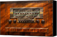 Mike Savad Canvas Prints - Americana - Radio - Remember what radio was like Canvas Print by Mike Savad