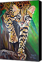 Brown Tiger Painting Canvas Prints - Amur Leopard Canvas Print by Maria Pia Guarneri