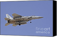 Featured Canvas Prints - An F-15a Baz Of The Israeli Air Force Canvas Print by Ofer Zidon