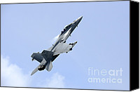Featured Canvas Prints - An Fa-18 Super Hornet Of The U.s. Navy Canvas Print by Remo Guidi