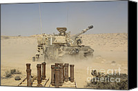 Featured Canvas Prints - An Israel Defense Force Artillery Corps Canvas Print by Ofer Zidon