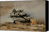 Featured Canvas Prints - An Israel Defense Force Magach 7 Main Canvas Print by Ofer Zidon