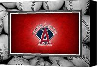 Baseball Canvas Prints - Anaheim Angels Canvas Print by Joe Hamilton