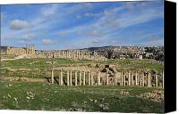 Of Antioch Canvas Prints - Ancient City of Jerash Canvas Print by Ash Sharesomephotos