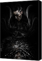 Creepy Digital Art Canvas Prints - Andromeda Canvas Print by David Fox