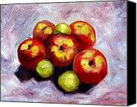 Apples Canvas Prints - Apple Harvest Canvas Print by Nancy Merkle