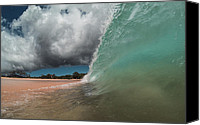Brad Scott Canvas Prints - Aqua Crush Canvas Print by Brad Scott