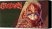 Featured Tapestries - Textiles Canvas Prints - Arabian Girl Canvas Print by Mona  Bernhardt-Lorinczi
