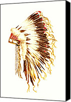 American Special Promotions - Arapaho War Bonnet Canvas Print by Michael Vigliotti